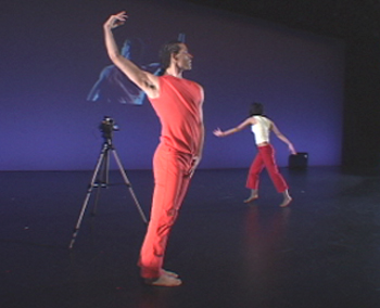 click for a bigger view of TWO (2003) - Choreography by Neil Greenberg, video design by Greenberg & Charles Dennis